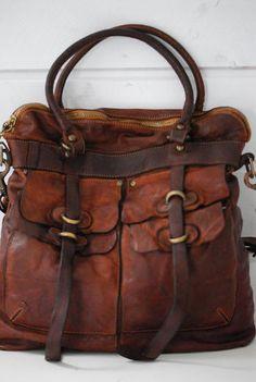 Cute bag!! CAMPOMAGGI - BORSA ALTA - COGNAC