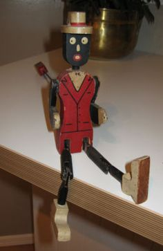 ANTIQUE/VINTAGE RARE DANCING JIG DOLL BLACK AMERICANA