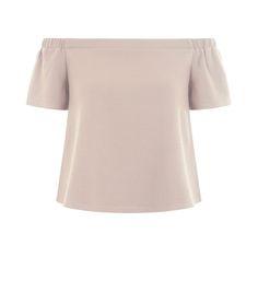 0851076f98b79 Teens Shell Pink Bardot Neck Top