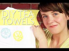 DIY LEMON STAMPED TEA TOWELS | Broke But Bougie - YouTube