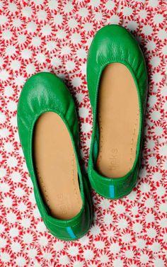 Clover Green   #tieks ballet flat
