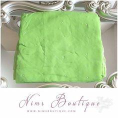 Lime Green Pearl Sari