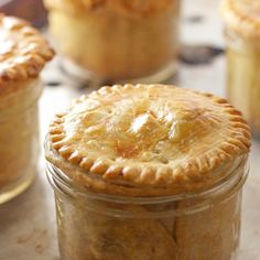 Chicken Pot Pie ... in Mason Jars!  Bake, eat, and freeze all in the same dish!
