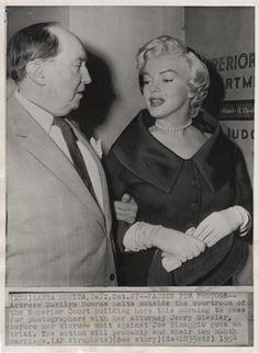 1954. Divorce suit against DiMaggio