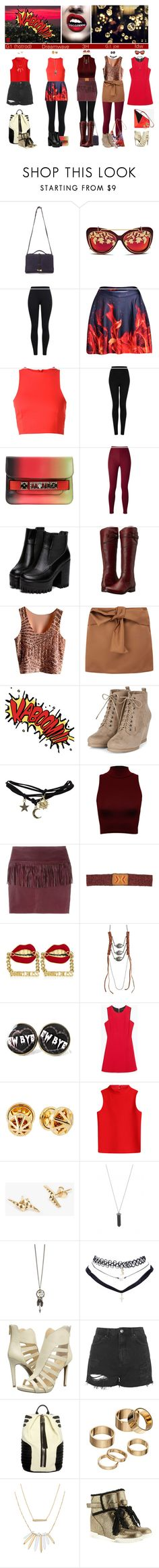 """""""Hotrod = Rodimus prime"""" by femme-mecha ❤ liked on Polyvore featuring Matthew Williamson, T By Alexander Wang, Topshop, Proenza Schouler, Frye, N°21, WALL, Wet Seal, WearAll and IRO"""