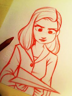 Meg from Paperman.❤️ A quick sketch I made yesterday afternoon, based on the amazing concept art by Scott Watanabe. :)