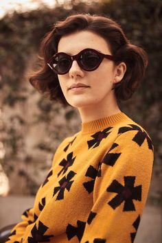 Capsule Collection FW 2017 Olimpia Zagnoli for Marella Round Sunglasses, Sunglasses Women, Patagonia, Vogue, Outfits, Collection, Color, Style, Fashion