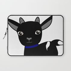 Micky the Goat Laptop Sleeve by goatgames Goat Games, Indie Games, Laptop Sleeves, Goats, Kids Rugs, Fictional Characters, Art, Art Background, Kid Friendly Rugs