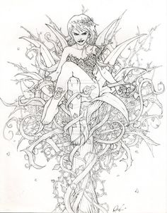 fairy adult coloring page by melissa