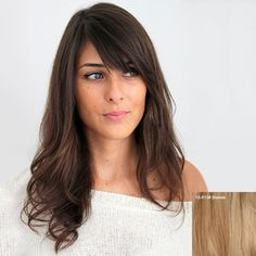 $69.45 Ladylike Long Wavy Side Bang Human Hair Wig For Women