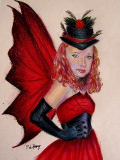 Red Fairy Drawing, 2015