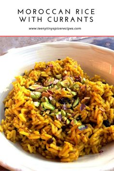 Moroccan Rice with Currant