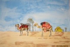 Aquarelle Maroc dromadaire désert Diy, Painting, Camels, Notebook, Watercolor Paintings, Bonheur, Travel, Drawing Drawing, Bricolage