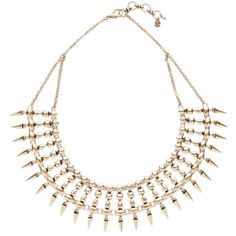 Lucky Brand Spike Collar Necklace ($42) ❤ liked on Polyvore featuring jewelry, necklaces, accessories, colares, boho necklace, bohemian jewelry, bohemian necklaces, spikes jewelry and long gold tone necklace