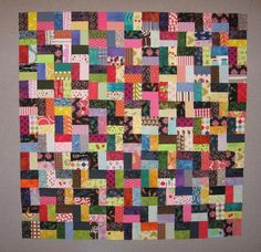 Ugly. Or Not! 'The first few blocks of a scrap quilt always look terrible. You just have to keep going. The more variety you add, the more things will play together and the better it will get. Push yourself forward because odds are it will improve.'