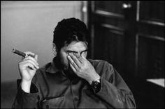 Havana. Ministry of Industry. 1963.  Ernesto GUEVARA (Che), Argentinian politician, Minister of industry (1961-1965) during an exclusive interview in his office by René Burri.