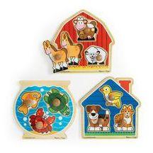 Jumbo Animal Knob Puzzles - Set of 3