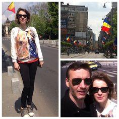 1Mai ! Cea mai libera zi din Bucuresti! With Stamp Bomber and Paint Tights I welcome May! #silkonskin #oiloncanvas #1mai #bucuresti #ArgoArtDesign #fashion