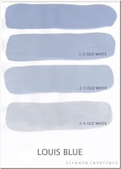 Annie Sloan Chalk Paint - color ranges Louis Blue og Old White