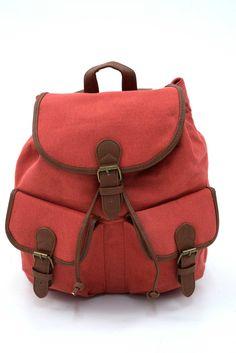 Γυναικείο σακίδιο πλάτης σε κεραμιδί χρώμα. Κλείνει με μαγνητικό κούμπωμα και το ύφασμα του είναι εξαιρετικής ποιότητας canvas. Backpacks, Bags, Fashion, Handbags, Moda, Fashion Styles, Backpack, Fashion Illustrations, Backpacker