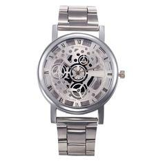 Relojes Mujer 2016 Skeleton Watch Women Fashion Wristwatch Female Clock Relogios Feminino Montre Femme XFCS Gold Watch Women