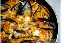 Steamed mussels with colored peppers and feta cheese Recipe by Cookpad Greece Feta, Greek Meze, Seafood Recipes, Cooking Recipes, Steamed Mussels, Greek Cooking, Greek Dishes, Recipe Images, Greek Recipes