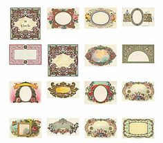 Add a Vintage Look to Any Project with One of These Free Labels: Lunagirl Images Free Vintage Labels Printable Labels, Printable Paper, Free Printables, Labels Free, Printable Vintage, Blank Labels, Etiquette Vintage, Ideias Diy, Paper Crafts