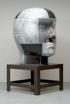 Jun Kaneko | Untitled, Head, 2005 | Glazed ceramics
