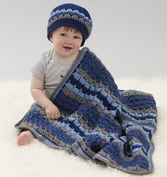 [Video Tutorial] Making Your First Blanket & Hat Set Is Easy- If You Follow This Pattern - http://www.dailycrochet.com/video-tutorial-making-your-first-blanket-hat-set-is-easy-if-you-follow-this-pattern/