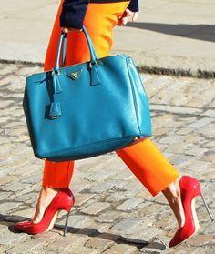 Fall 2012 London Fashion Week Street Style by Tommy Ton Tommy Ton, Prada Bag, Prada Handbags, Leather Handbags, Cheap Handbags, Handbags Online, Coach Handbags, Leather Bag, Mode City