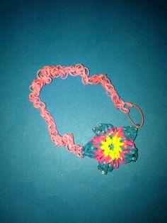 Cute Rainbow Loom Hibiscus Flower Headband!