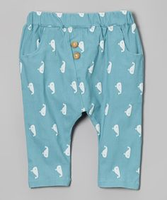 Loving this Light Blue Whale Harem Pants - Toddler & Boys on #zulily! #zulilyfinds