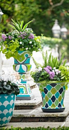 The classic urn form comes from ancient Greece, but this vibrant design is pure Grandin Road. Artisans hand paint our Casablanca Urn in detailed Moroccan-inspired motifs.