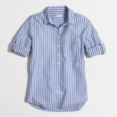 Factory stripe pocket popover : Button-ups | J.Crew Factory