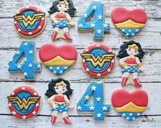 Maravilla mujer inspirado Cookies maravilla mujer cumpleaños