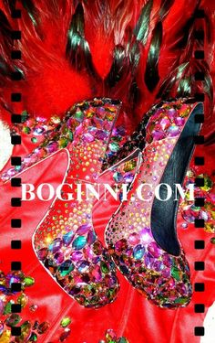 RAINBOW CRYSTAL & SCATTERED DIAMONTE BURGANDY SILK WEDDING PARTY SHOES
