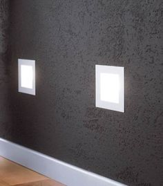 Bathrooms, hallways, and closets. With alternative switches, over head light switch and wall light dimmers