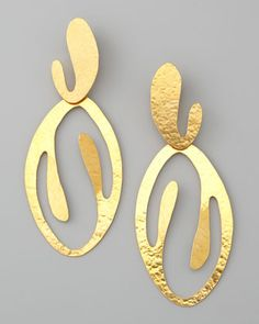 Coral Cutout Drop Clip Earrings by Herve Van Der Straeten at Bergdorf Goodman.
