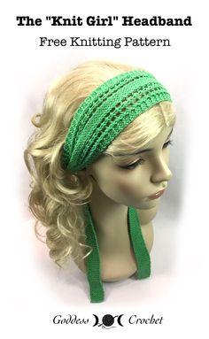 """The """"Knit Girl"""" Headband – Free Knitting Pattern"""