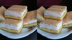 Tvarohovy kolac - Kind of cheese cake Kinds Of Cheese, Russian Recipes, Sandwiches, Cheesecake, Food And Drink, Tasty, Cookies, Baking, Healthy