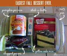 pumpkin dump easy fall dessert recipe - illistyle.com