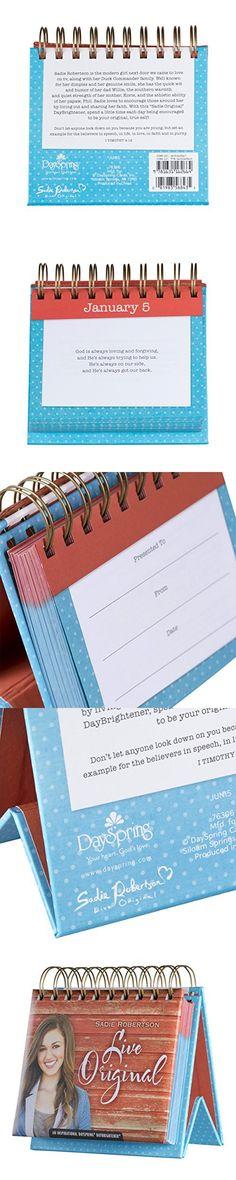 DaySpring Sadie Robertson Live Original, Perpetual Flip Calendar, 366 Days of Inspiration (76306)