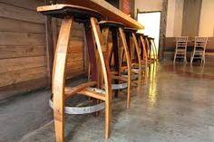 Image result for wine barrel stool