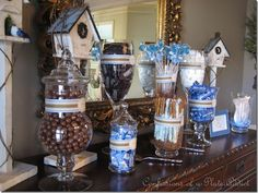 Baby shower cand bar for boy