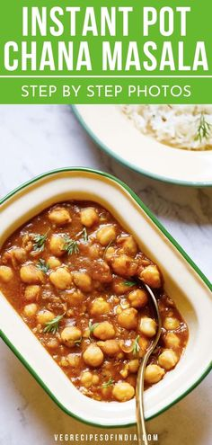 An Instant Pot Chana Masala recipe which is one pot, super easy and does not require the special chana masala spice blend or powder. You also don't need to make this spice blend at home. This is also a gluten free and vegan chana masala. New Recipes For Dinner, Dinner Recipes Easy Quick, Quick Meals, Dinner Ideas, Masala Powder Recipe, Masala Recipe, Lentil Recipes, Vegetarian Recipes, Cooking Recipes