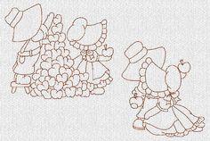 DESCARGA instantánea Sunbonnet Sue niños diseños por embroiderygirl