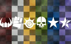 (From left to right) Black★Gold Saw, STRength, Chariot, Dead Master, Black★Rock Shooter, and InsaneBlack★Rock Shooter