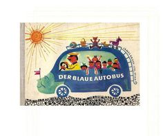 Der blaue autobus, vintage picture book for children, 1958