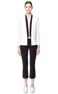 Zara blazer with contrasting lapel