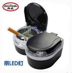 Car tape led lighting ashtray car ashtray car ashtray luminous decoration supplies $7.92